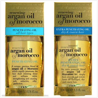 美國 Ogx Argan Oil of Morocco 摩洛哥堅果油護髮油(免沖洗)-一般/加強修護 (7.5折)