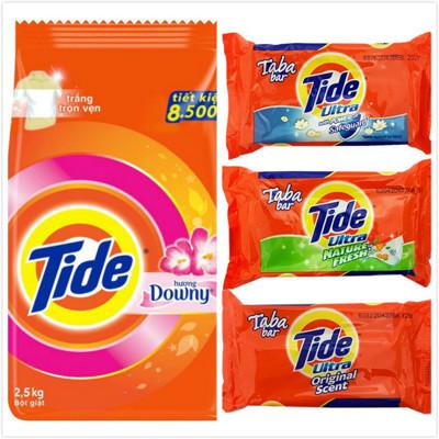 【Tide】洗衣粉-含Downy(2.5kg*1)+【Tide】潔淨洗衣皂-三款(130g*12) (9折)