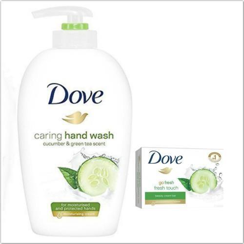 德國dove乳霜潔膚香皂-4款(135g*12)+小黃瓜+綠茶洗手乳(250ml)*3