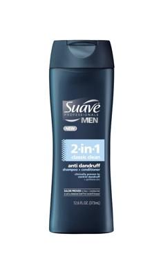 美國知名品牌 SUAVE-2in1【去頭皮屑】男用洗髮乳(373ml) (8.3折)