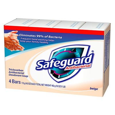 【美國 Safeguard】原味潤膚皂(4oz*4塊/組) (4.9折)
