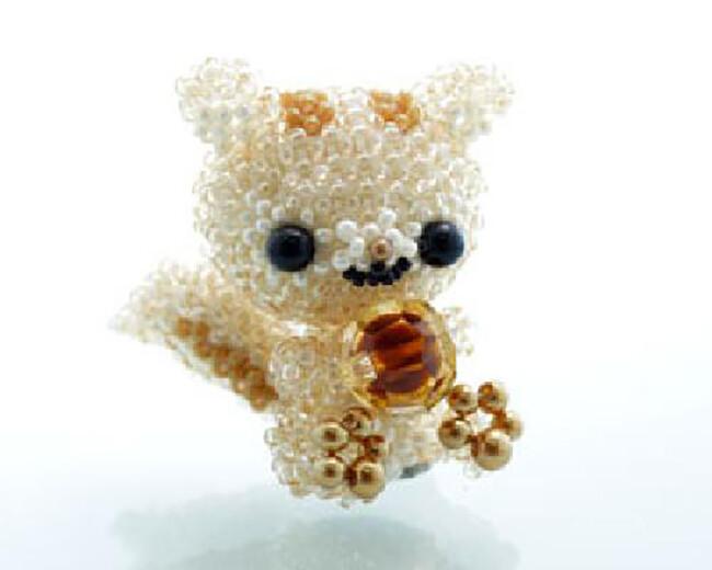 o1-322-15 大頭松鼠 串珠材料包 小熊媽媽