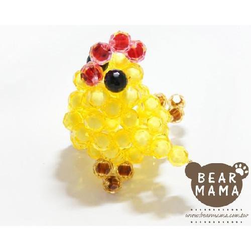o1-70-1 咕咕雞(珠中珠) 串珠材料包 小熊媽媽