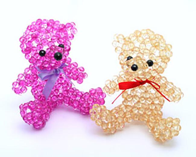 o1-74 泰迪熊 串珠材料包 小熊媽媽