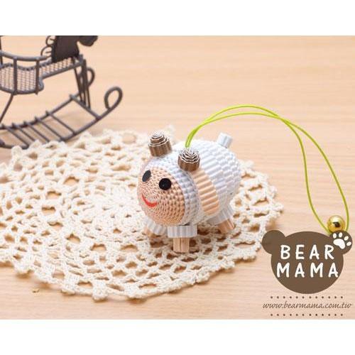 j4-12-41 小蛋捲娃娃-羊妹妹  材料包 小熊媽媽