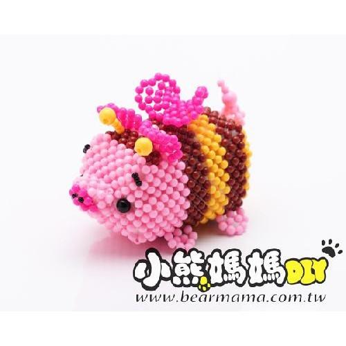 o1-369-29 蜜蜂豬(糖果珠) 串珠材料包 小熊媽媽