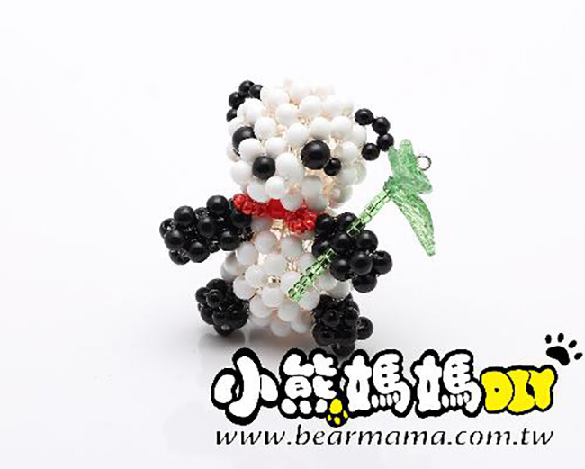 o1-89-3 q版熊貓 串珠材料包 小熊媽媽