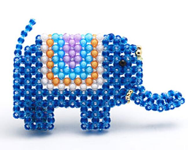 o1-200-5 彩虹象(平面) 串珠材料包 小熊媽媽