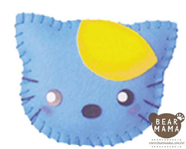 f1-01 打洞香包-貓咪  材料包 小熊媽媽