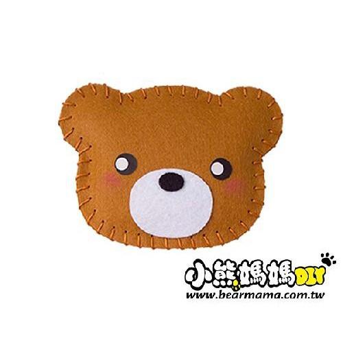 f1-01 打洞香包-小熊  材料包 小熊媽媽
