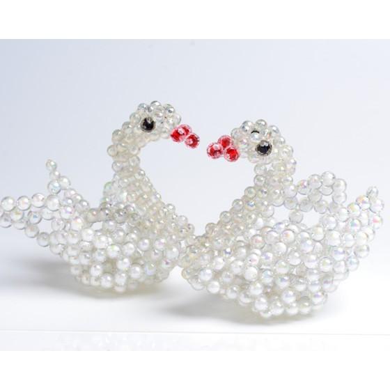 o1-1 天鵝 串珠材料包 小熊媽媽