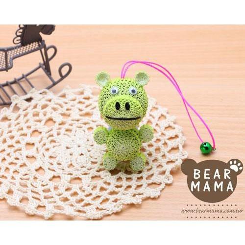 j4-12-32 小蛋捲娃娃-小河馬  材料包 小熊媽媽