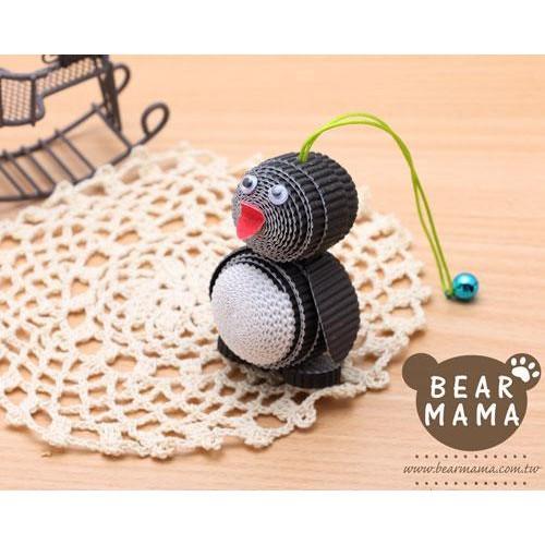 j4-12-46 小蛋捲娃娃-小企鵝  材料包 小熊媽媽