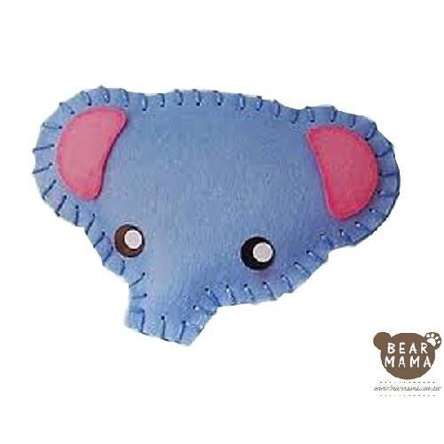f1-01 打洞香包-大象  材料包 小熊媽媽