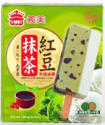 免運冷凍宅配義美抹茶紅豆牛奶雙色冰棒87.5g(5支/盒)*6盒 (8.9折)