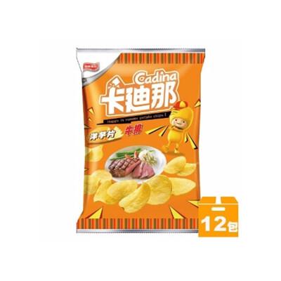 卡迪那牛排洋芋片45g(12入/箱)X2箱  02 (9.7折)