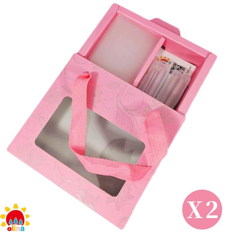 momsolinasoff 口罩減壓護套-乾燥玫瑰+收納夾~寵愛媽咪禮盒-2盒組