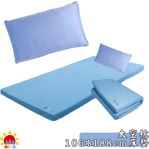 開學必備olina-mit透氣防蹣3m記憶床墊+大空枕組合-單人加大106*188*5cm