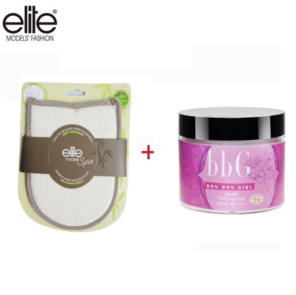 olina輕鬆購bbg&eliteb去角質組-bbg海茴香淨透去角質霜+ elite 去角質手套