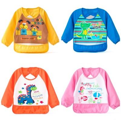 【可欣童裝館】可愛《可愛小動物》防水吃飯衣~畫畫衣 (2.1折)