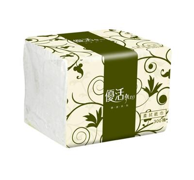 現貨 -優活 抽取式衛生紙單抽式柔拭紙巾(300抽x30包/箱) (9.1折)