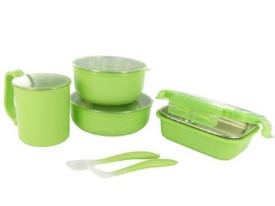美國歐比寶貝 onbi baby不銹鋼餐具 兒童餐具(無塑化劑) 附叉匙組 (6.7折)