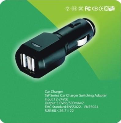 USB車充頭( 內置保險絲/保護芯片  2.1A/1A雙孔 ) (7.5折)
