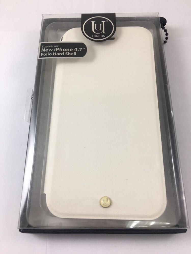 uunique iphone6 木紋拼接側掀式皮套_白