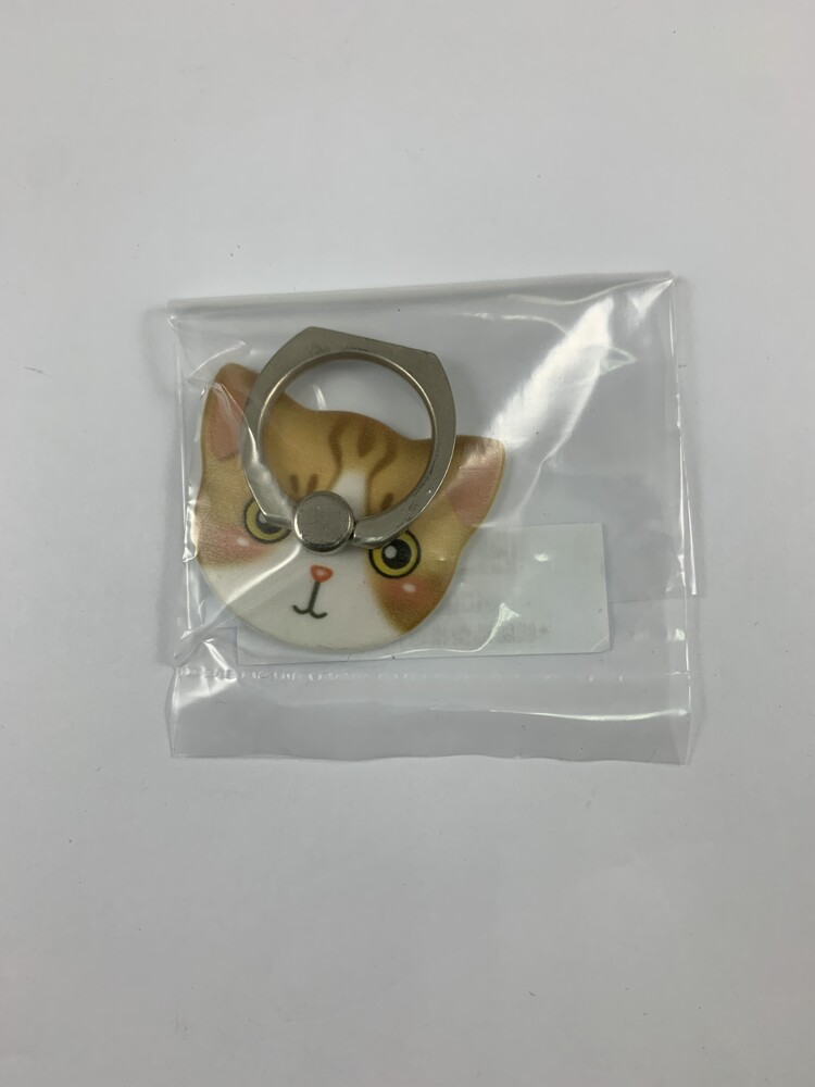 貓臉造型指環扣_黃