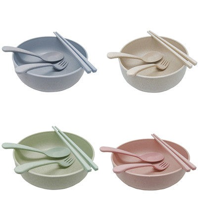 小麥環保餐具大碗公四件組 (2.1折)