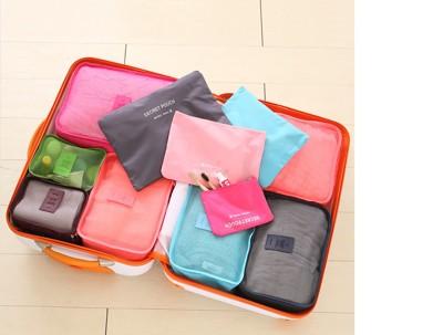 旅行衣物整理收納袋 -六件組(6色任選) (2.9折)