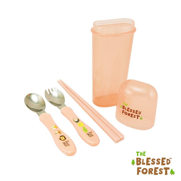 祝福森林不鏽鋼餐具組(兒童筷)