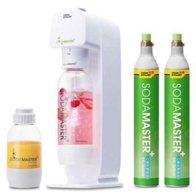 【鍋寶】 SODAMASTER 萬用氣泡水機 + CO2鋼瓶二入組 (8.3折)
