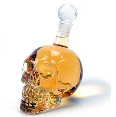 創意水晶附蓋骷髏酒瓶 骷髏頭造型醒酒器 (6折)