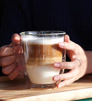 雙層耐熱玻璃杯 咖啡杯 啤酒杯 (6折)