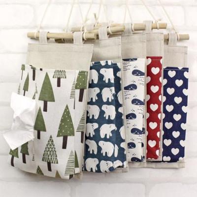ZAKKA  棉麻動物紋樣掛袋 面紙收納掛袋 (4.3折)