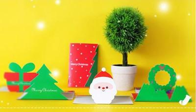 聖誕卡片 三折式半立體卡片 (4.5折)