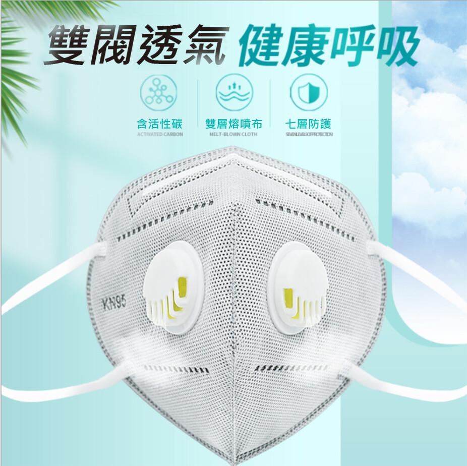 現貨! 防疫必備 專業級七層防護防疫口罩 雙呼氣閥  獨立封裝1個/入