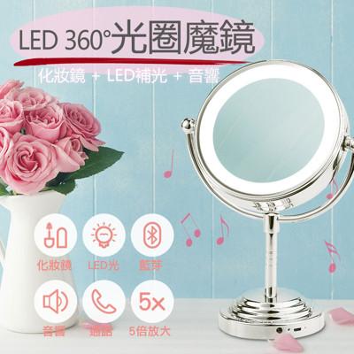 GREENON 光圈魔鏡 智慧型藍牙喇叭 (環燈鏡 雙面鏡 打光神器 語音通話) (8折)