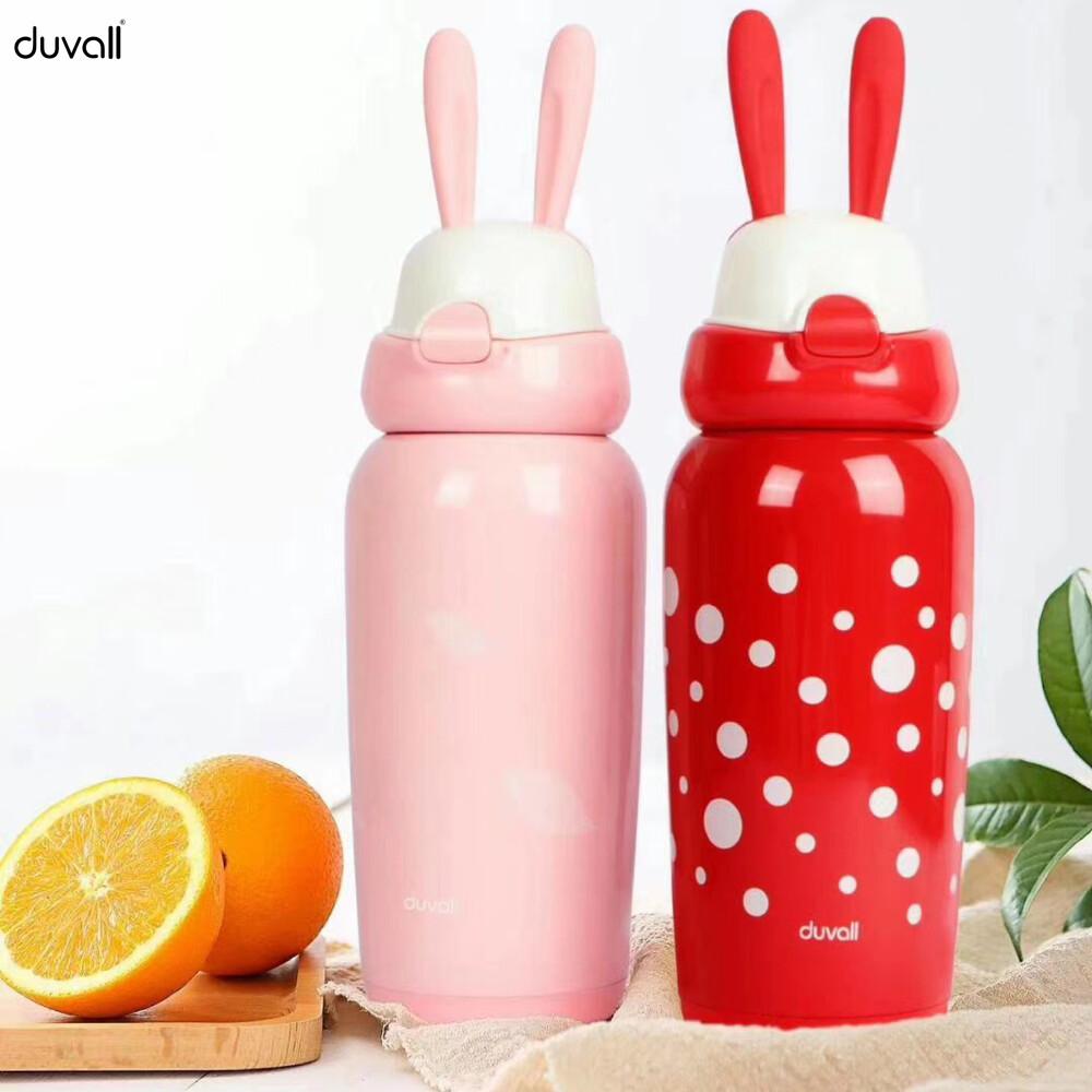 杜瓦爾duvall316不鏽鋼萌兔保溫瓶450ml (2色可選)
