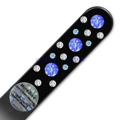 【皇家貴族水晶--炫黑系列CNB】歐洲捷克水晶玻璃指甲銼刀 SWAROVSKI水鑽 水晶美甲刀 指甲 (4.8折)