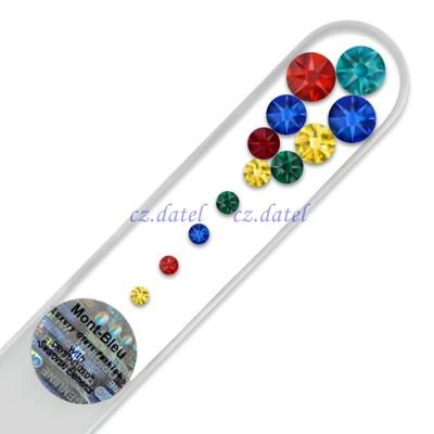 【尊貴寶石水晶--透明系列M】歐洲捷克水晶玻璃指甲銼刀 SWAROVSKI水鑽 水晶美甲刀 指甲刀 (5.1折)