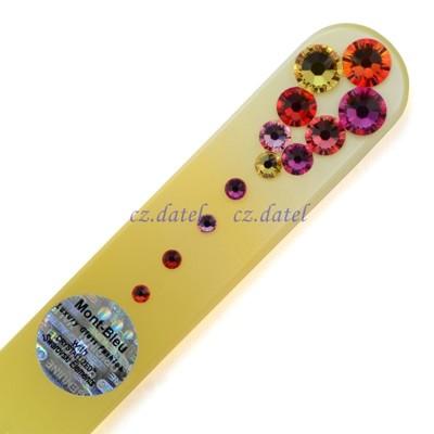 【尊貴寶石水晶--彩色系列MC】歐洲捷克水晶玻璃指甲銼刀 SWAROVSKI水鑽 水晶美甲刀 指甲刀 (4.8折)
