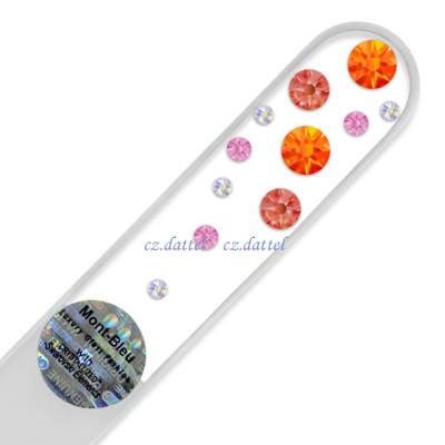 【繽紛水晶瀑布--透明系列W】歐洲捷克水晶玻璃指甲銼刀 SWAROVSKI水鑽 水晶美甲刀 指甲刀 (5.1折)
