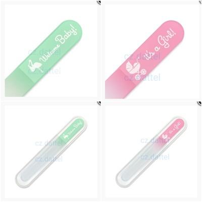 【捷克美甲刀--寶寶系列--粉綠/粉紅】歐洲捷克水晶玻璃指甲銼刀 寶寶水晶美甲刀 兒童指甲刀 (5.8折)
