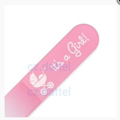 【捷克美甲刀--寶寶系列--粉綠/粉紅】歐洲捷克水晶玻璃指甲銼刀 寶寶水晶美甲刀 兒童指甲刀 (6.2折)