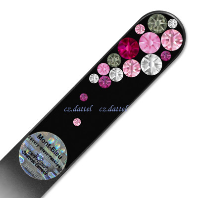 【夢幻水晶泡泡--炫黑系列BB】歐洲捷克水晶玻璃指甲銼刀 SWAROVSKI水鑽 水晶美甲刀 指甲刀 (4.8折)