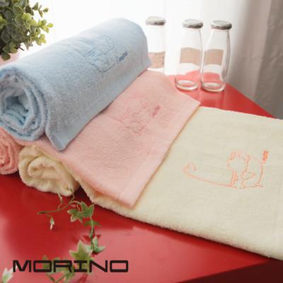 MORINO 素色刺繡浴巾 (6折)