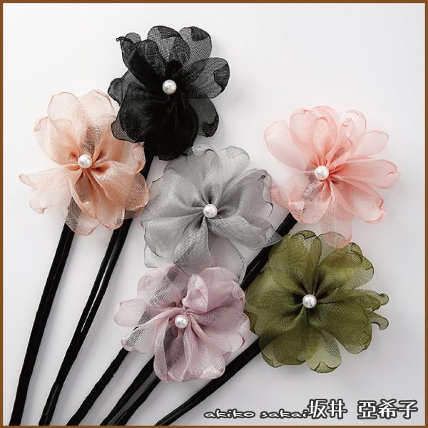 akiko亞希子珍珠花朵造型丸子頭盤髮造型編髮器