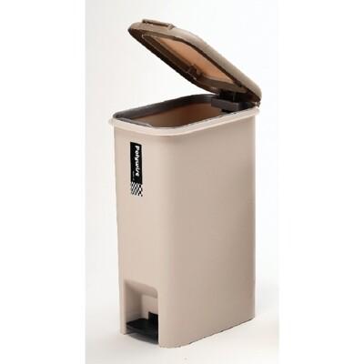 [簡單樂活]  大哈登兩用腳踏手按垃圾桶(25L)